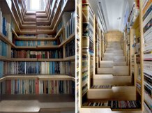 Have a closet? Lots of books? Build a bookshelf staircase!