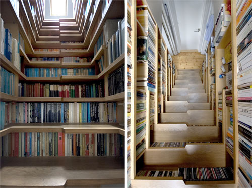 building bookcase under stairs