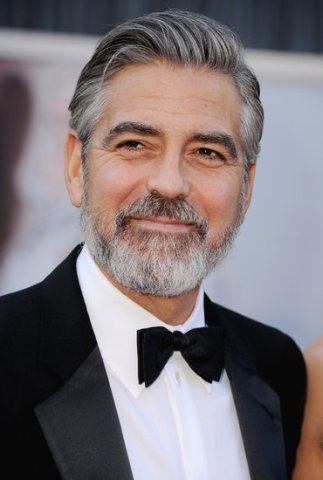 George Clooney rocking silver.