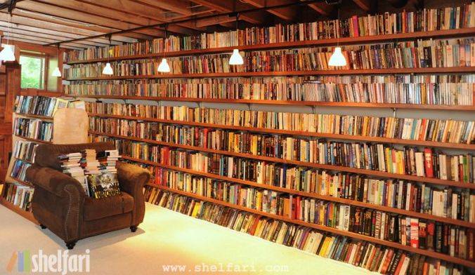 Wordless Wednesday - Neil Gaiman's Library