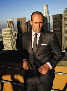 Jason Statham in a suit