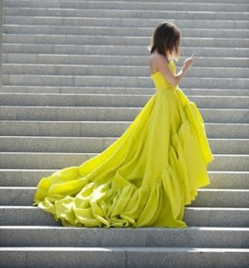 Now that's a chartreuse dress!