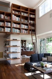 This is so cool. Library ladder, without the 'library look.