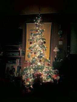 2013's Christmas tree at the home of Kate's Bookshelf.