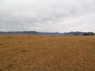 Empty fields in the winter.