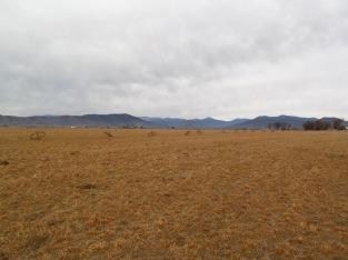 Empty fields in the winter.