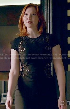 alexis-black-mesh-inset-dress