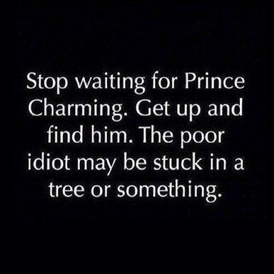 Prince Charming in a tree