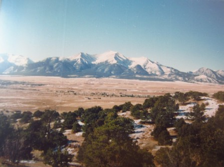 Mt. Princeton, outside of Buena Vista, CO, one of the collegiate peaks.