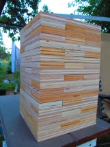 Unsanded but stacked