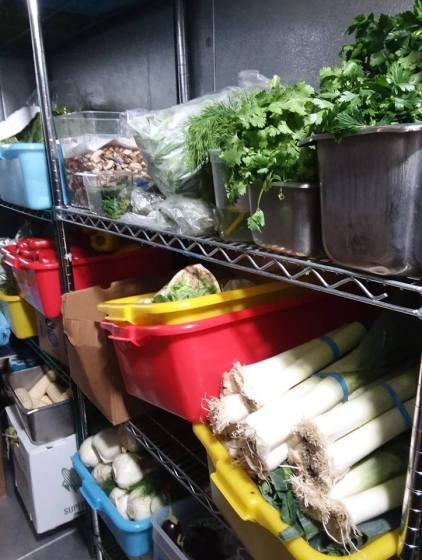 A full produce walk-in