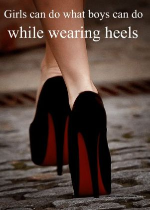 same as boys in heels