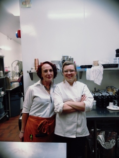 Pastry chef and one of her bestest gals